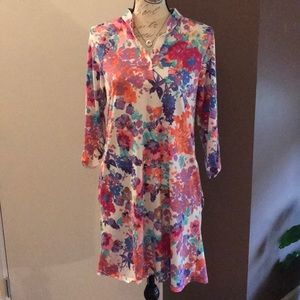 EUC Voll 3/4 Sleeve Floral Dress